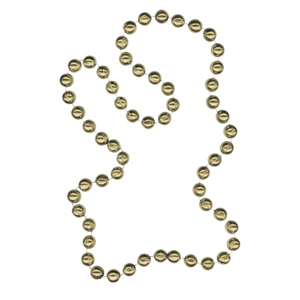 Baseball-shaped Mardi Gras Beads