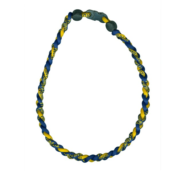 braided titanium ionic sports necklace ionic team color