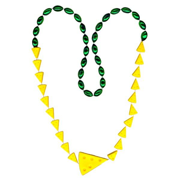 Cheese Wedge-shaped Mardi Gras Beads