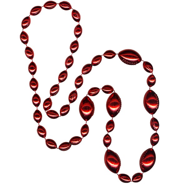 Football-shaped Mardi Gras Beads