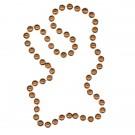 Baseball-shaped Mardi Gras Beads