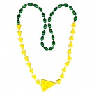 Cheese Wedge-shaped Mardi Gras Beads